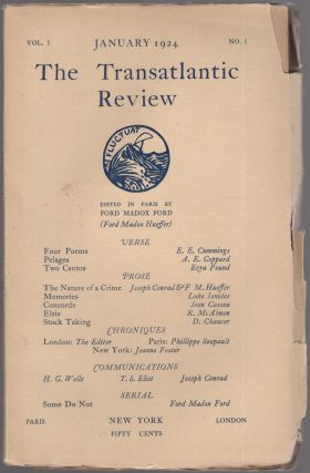 The Transatlantic Review - Vol. 1, No. 1, January 1924. E. E. CUMMINGS, Joseph Conrad, Ezra...