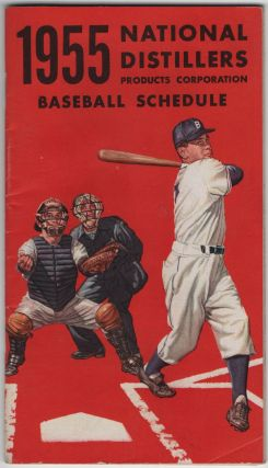 1955 National Distillers Products Corporation Baseball Schedule