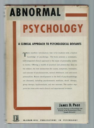 Abnormal Psychology: A Clinical Approach to Psychological Deviants. James D. PAGE