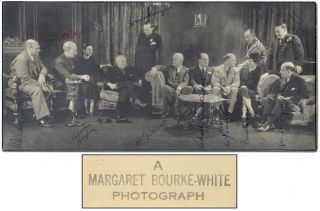 [Photograph]: Group Portrait of Authors. Margaret BOURKE-WHITE.