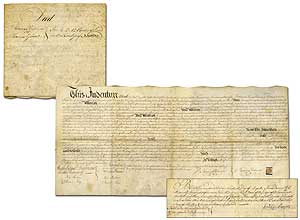1776 Vellum document transferring land in Haddonfield, New Jersey