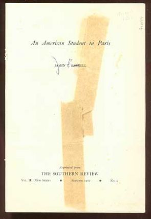 An American Student in Paris. James T. FARRELL