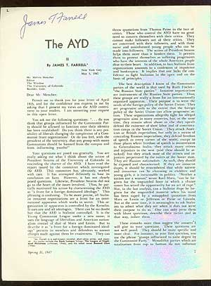 The AYD. James T. FARRELL