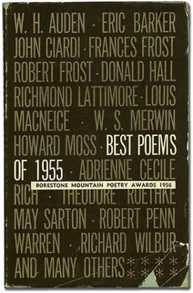 Best Poems of 1955: Borestone Mountain Poetry Awards 1956. Sylvia PLATH, James Wright, Richard...