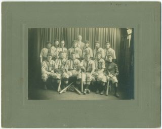 Cabinet Photograph: Unidentified Baseball Team