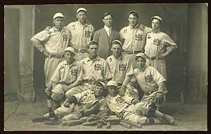 Postcard Photograph: Normal School Baseball Team