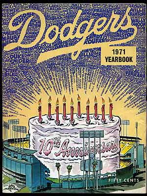 Dodgers 1971 Yearbook