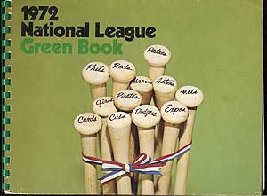 1972 National League Green Book. Dave GROTE