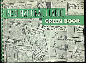 1959 National League Green Book. Dave GROTE