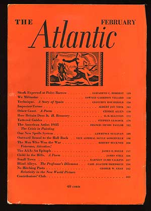 The Atlantic Monthly: February 1936