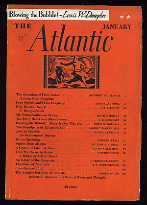 The Atlantic Monthly: January 1936