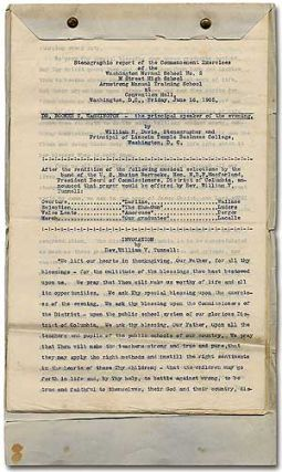 Stenographic Report of the Commencement Exercises of the Washington Normal School No. 2, M Street...