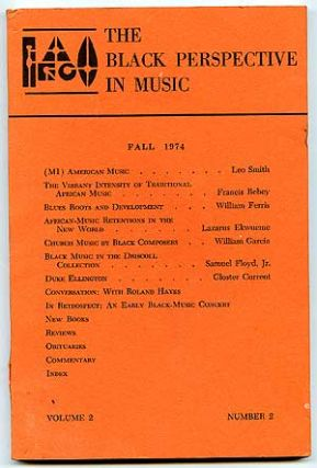 Magazine]: The Black Perspective in Music. Fall 1974. Volume 2, Number 2