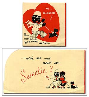 Valentine Card]: Hi - Valentine! How about Steppin' Along with me and bein' my Sweetie