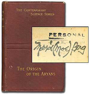 The Origin of the Aryans: An Account of the Prehistoric Ethnology and Civilisation of Europe. Moe BERG, Isaac TAYLOR.