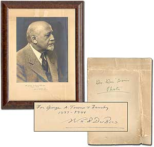 Inscribed Portrait Photograph of W.E.B. Du Bois. W. E. B. DU BOIS, DuBois