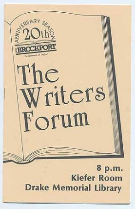 The Brockport Writers Forum of The Department of English is proud to present Special Guest...